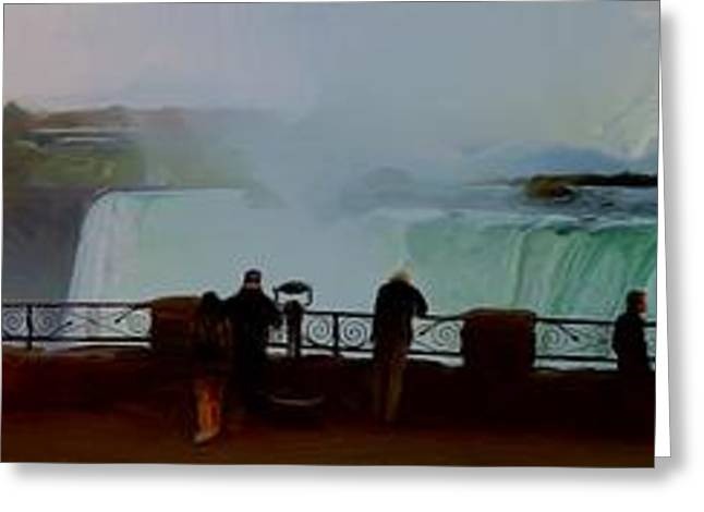 Greeting Card featuring the photograph A Cold November Mist Over Niagra by Dennis Lundell