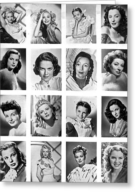 A Collage Of Movie Starlets Portraits Greeting Card by Underwood Archives