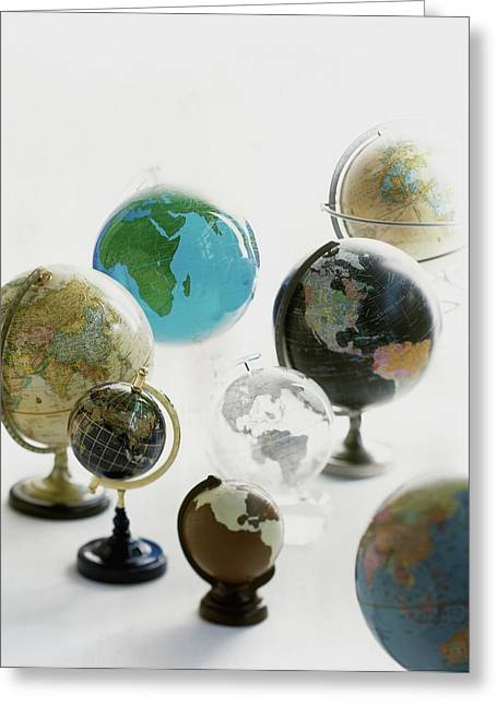 A Collection Of Globes Greeting Card