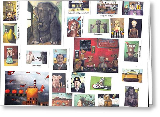 A Collection Of My Work Greeting Card by Leah Saulnier The Painting Maniac