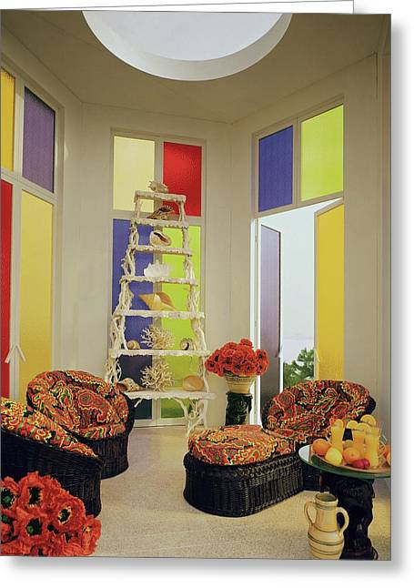 A Colorful Living Room Greeting Card