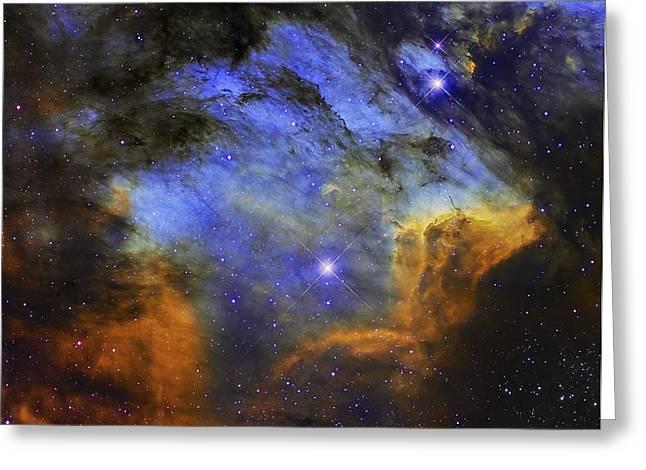 A Colorful Pelican Nebula Greeting Card by Roberto Colombari