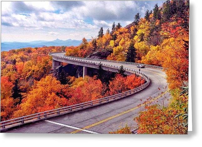 A Colorful Ride Along The Blue Ridge Parkway Greeting Card