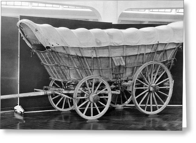 A Conestoga Covered Wagon Greeting Card by Underwood Archives