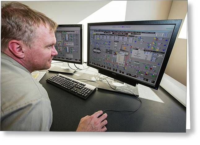 A Control Programmer At Ivanpah Greeting Card