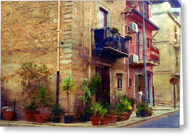 A Corner In Sicily Greeting Card
