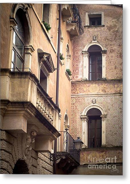 A Corner Of Vicenza Italy Greeting Card