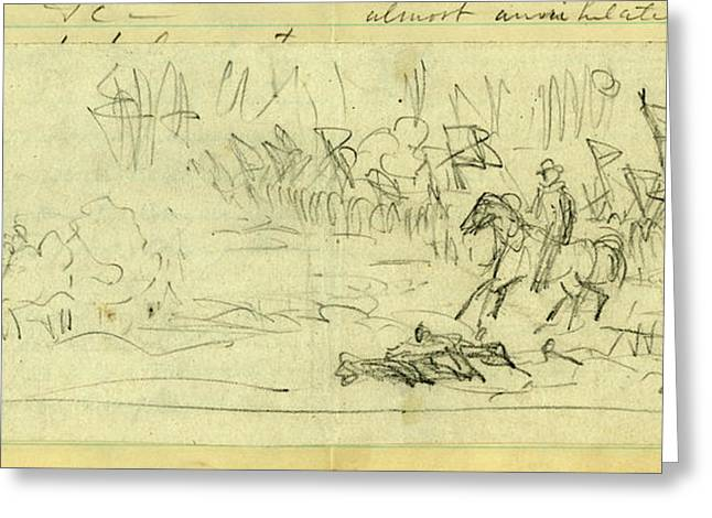 A Corps Going Into Battle, Possibly General Warrens V Corps Greeting Card by Quint Lox