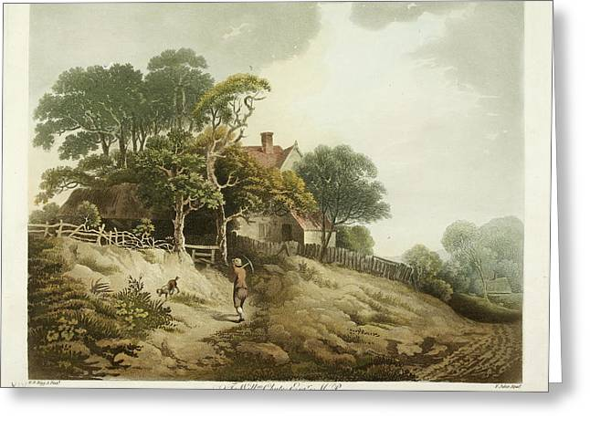 A Cottage In The Countryside Greeting Card