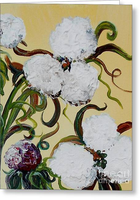A Cotton Pickin' Couple Greeting Card by Eloise Schneider