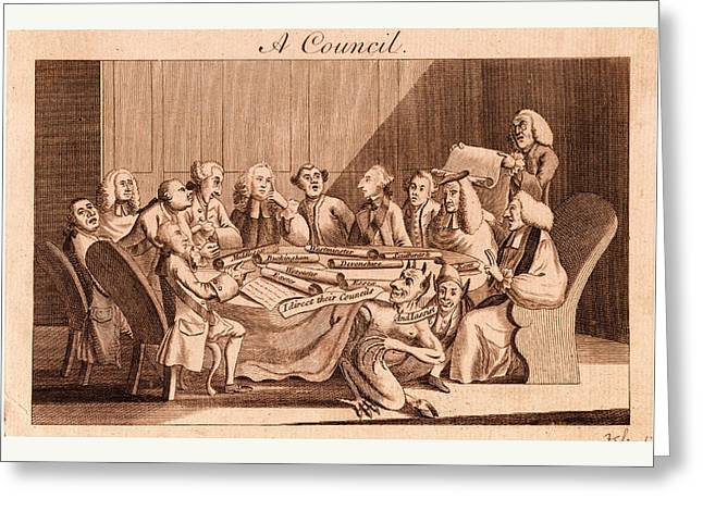 A Council, England, 1770, The Privy Council, Or That Greeting Card by English School