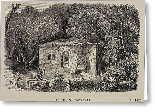 A Country Cottage In Masham Greeting Card by British Library