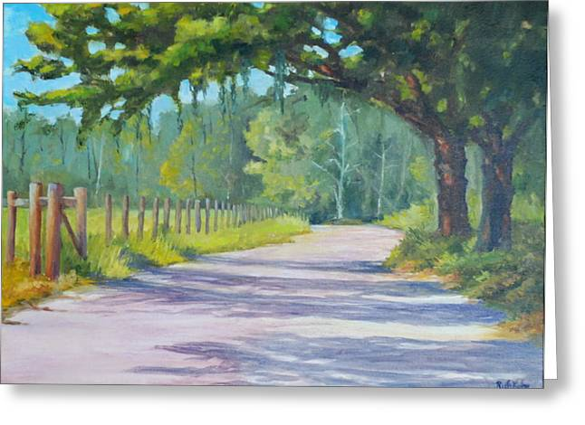 A Country Road Greeting Card by Rich Kuhn