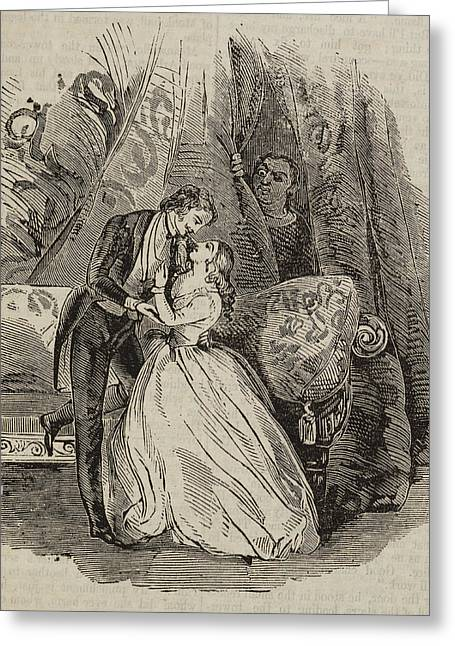 A Couple Embracing Greeting Card by British Library