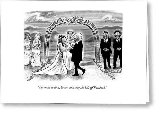 A Couple Getting Married Greeting Card