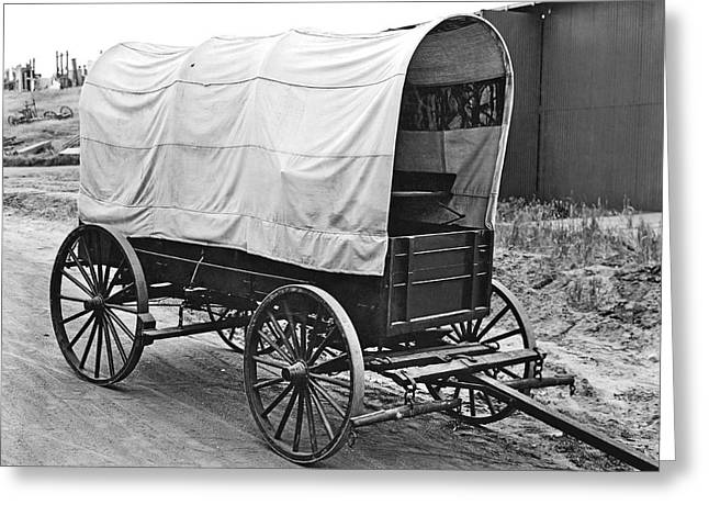 A Covered Wagon Greeting Card