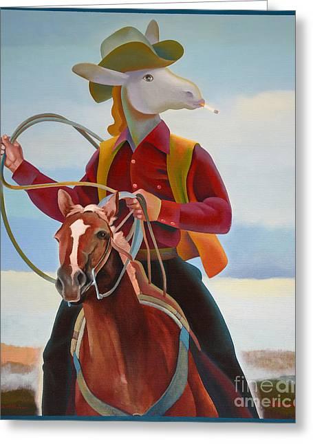 A Cowboy Greeting Card by Jukka Nopsanen
