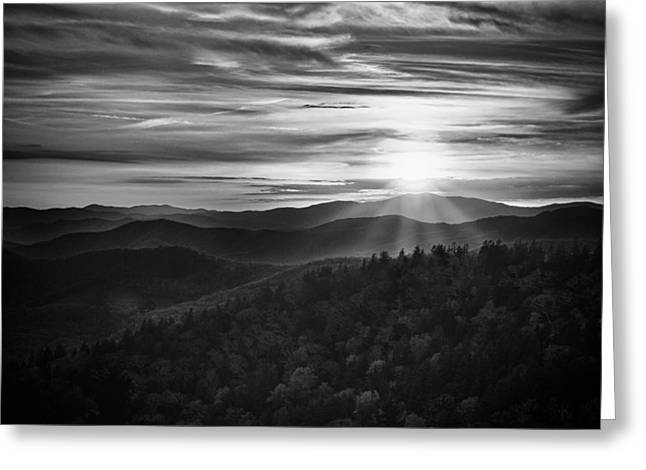 A Cowee Mountains Evening Greeting Card