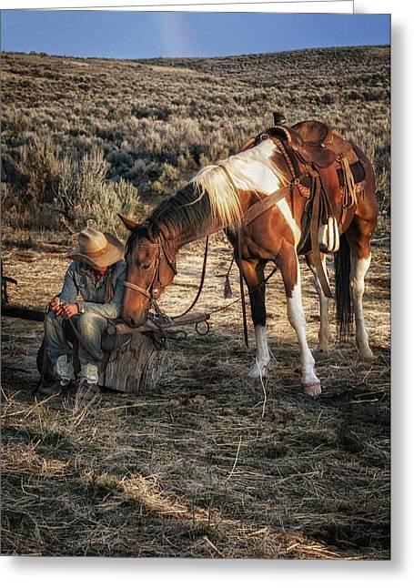 A Cowgirls Best Friend Greeting Card