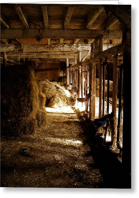 A Cozy Barn Greeting Card