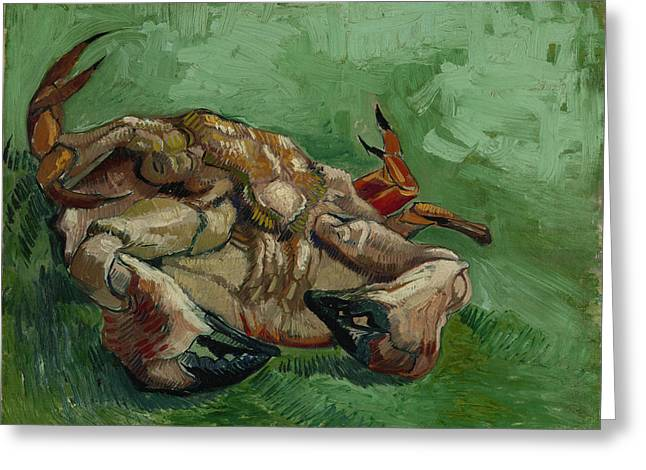 A Crab On Its Back Greeting Card by Vincent van Gogh