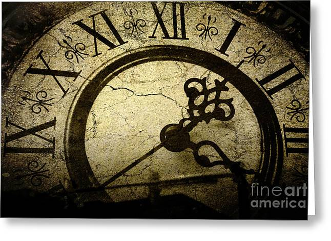 A Crack In Time Greeting Card by Sharon Coty