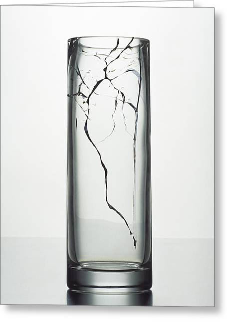 A Cracked Vase Greeting Card