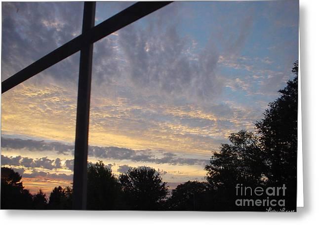 A Cross The Sky Greeting Card by Lyric Lucas