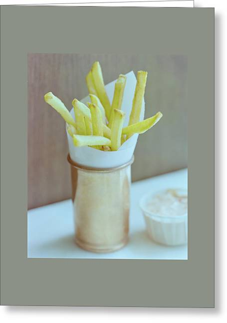 A Cup Of Fries Greeting Card by Romulo Yanes