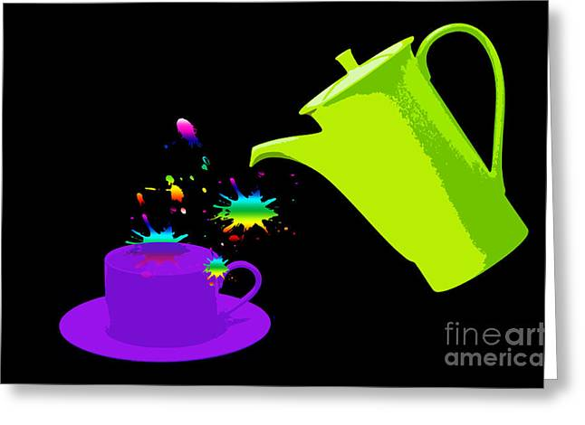 A Cup Of Rainbow Greeting Card by Michelle Orai