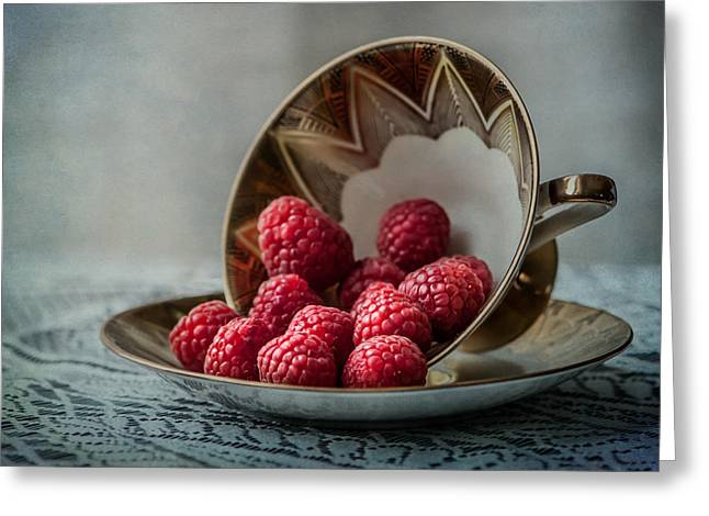 A Cupfull Of Raspberries Greeting Card