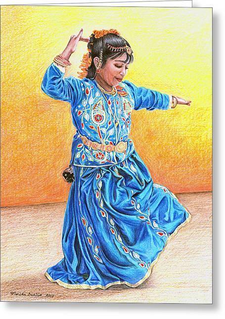 A Dancer Greeting Card by Noriko DeWitt