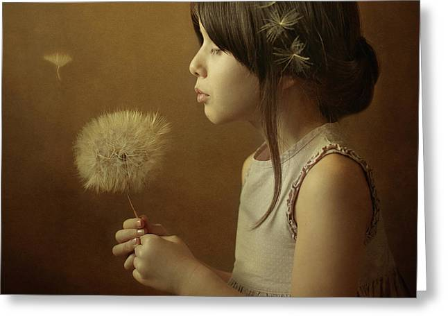A Dandelion Poem Greeting Card by Svetlana Bekyarova
