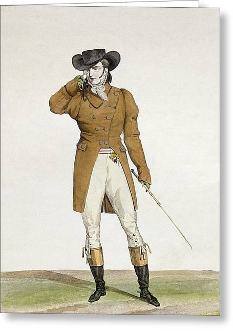 A Dandy Greeting Card by Antoine Charles Horace Vernet