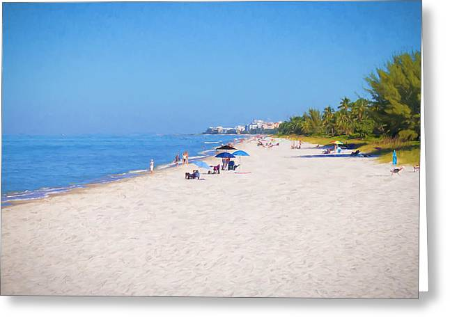 A Day At Naples Beach Greeting Card