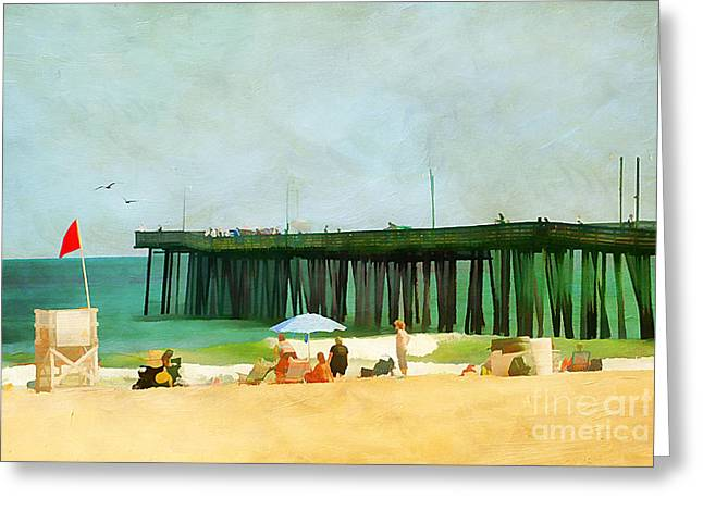 A Day At The Beach Greeting Card by Darren Fisher