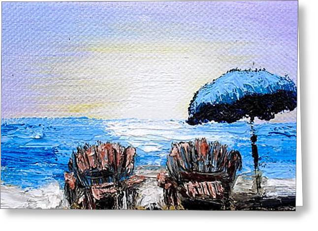 A Day At The Beach Greeting Card by Melissa Torres