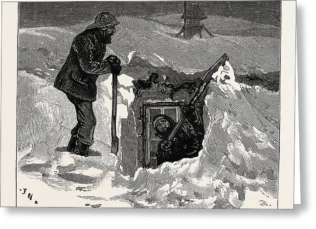 A Day At The Observatory On The Summit Of Ben Nevis Greeting Card