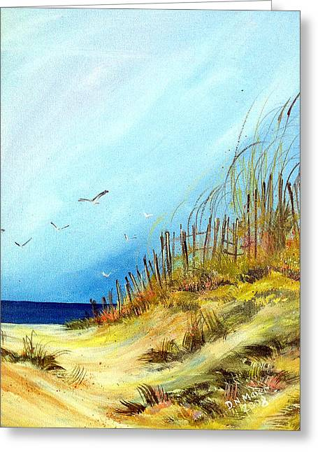 Greeting Card featuring the painting A Day At The Ocean by Dorothy Maier