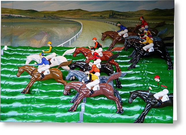 A Day At The Races Greeting Card by Richard Reeve