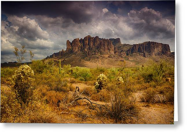 A Day At The Superstitions  Greeting Card