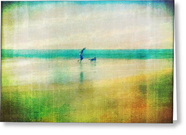 A Day By The Sea Greeting Card by Suzy Norris