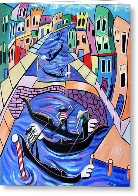 A Day In Venice Greeting Card by Anthony Falbo