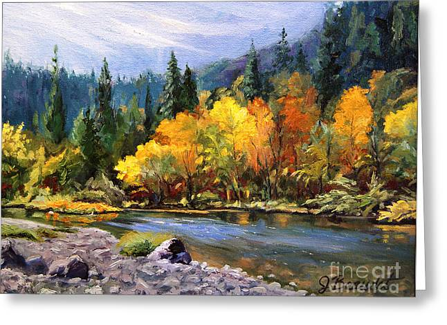A Day On The River Greeting Card by Jennifer Beaudet