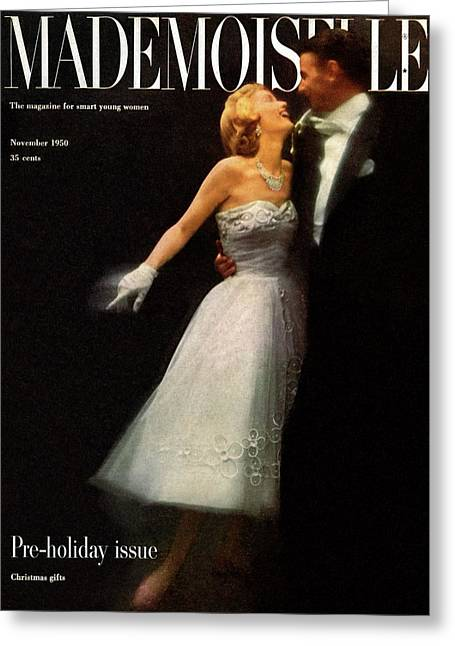 A Debutante In A Ballgown By Carolyn Fashion Greeting Card by Stephen Colhoun
