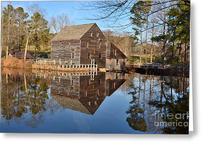 Greeting Card featuring the photograph A December Reflection by Bob Sample