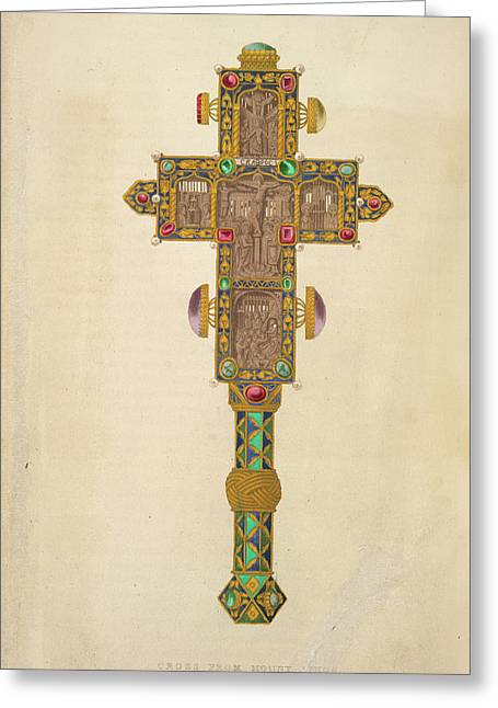 A Decorated Cross Greeting Card