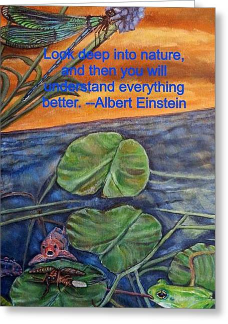 A Deep Look Into Nature And Our Water Greeting Card by Kimberlee Baxter