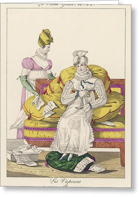 A Dejected Lady Seeks Comfort Greeting Card by Mary Evans Picture Library