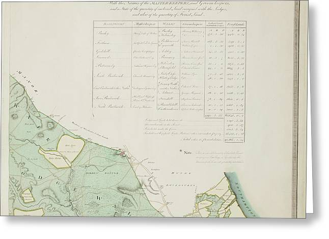 A Detailed Survey Map Of The New Forest Greeting Card
